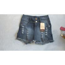 Shorts Saia Jeans Com Cinto Feminina Empório Cod.070