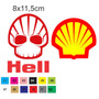 Adesivo Decorativo Notebook Tablet Celular Hell Shell