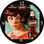 Relógio De Parede Em Vinil, Refrigerante Grapette