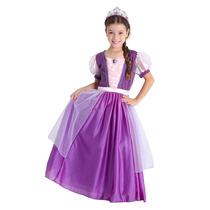 Fantasia Princesa Rapunzel Infantil Luxo Sulamericana