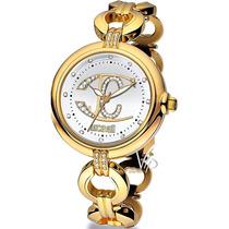 Relógio Feminino Just Cavalli Dourado Ouro Cristal Luxo Mk
