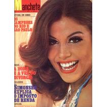Manchete 1975.sandra Bréa.flamengo.clara.londrina.olly.moda