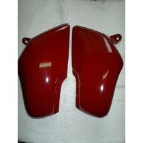 Tampas Laterais Da Moto Honda Cg Titan 125,vermelho . O Par.