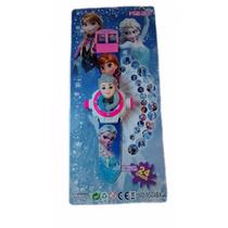 Brinquedo Personagem Infantil Relogio Projetor Frozen