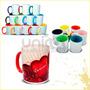 Canecas Coloridas Porcelana Cx C/12 .325ml -sublimação