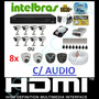 Kit 8 Cameras Infra C/ Hd 1tb Dvr 8 Canais Intelbras 1008 G2