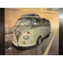 Quadro Kombi Antiga 40x40cm Rota 66 Painel Fotografico