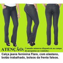 Sawary Calça Jeans Feminina Flare Promoção 20% Desc. 234483