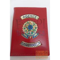Carteira Tipo Distintivo Agente Segurança Brasão República