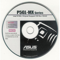 Cd Drivers Original Placa Mae Asus P5gl-mx