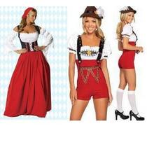 Fantasia Alemã Oktoberfest Holandesa Traje Tipico