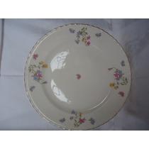 Prato Antigo Para Bolo De Porcelana Inglesa - Medalhão
