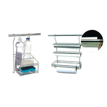 Kit Com Porta Detergente E Porta Rolo Triplo - Inox