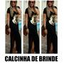 Vestido Mickey Longo 6 Cores Viscolycra + Calcinha De Brinde