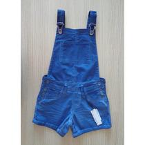 Jardineira Calvin Klein Jeans Infantil Azul