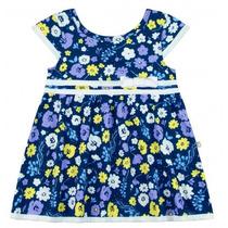 Vestido Infantil Meia Malha Estampada Bg232
