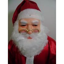 Roupa Fantasia De Papai Noel Com Mascara