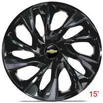 Calota Jogo Aro 15 Ds4 Black Corsa Celta Prisma Onix Meriva