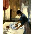 Dona De Casa Passando Roupas Ferro Pintor Manet Tela Repro