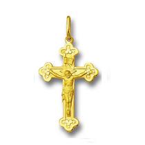 Pingente Crucifixo De Ouro 2,5cm 18k 750 Com Certificado