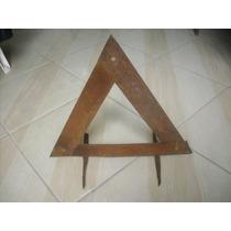 Triangulo Sinalizador De Segurança Carro Automóvel Antigo