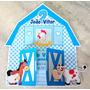 Convite Infantil Aniversário Fazendinha Azul (30 Unidades)