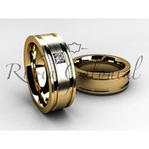 Aliança Em Ouro 18 K Casamento Noivado Par