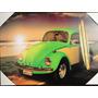 Quadro Volkswagem Saia E Blusa Fusca Beetle Surf 50x35cm