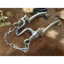 Antigo Freio Tipo 193 Robustão Alpaca Metal Branco Pronto