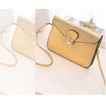 Bolsa Clutch Dourada Luxo Importada Pronta Entrega No Brasil