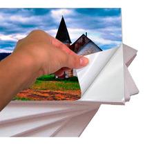 500 Folhas Papel Fotográfico Adesivo Glossy 135g A4