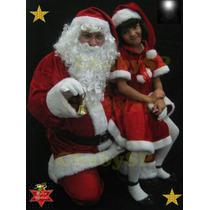 Roupa Papai Noel Veludo Completo Super Luxo Com 11 Itens