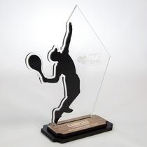 Troféu Tênis Acrílico - Troféus Personalizados