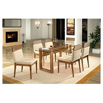 Sala De Jantar 6 Cadeiras+mesa, Decoração Apt Casa Poltrona