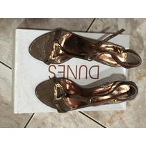 Sandália Dunes 34 Dourada Marron Semi Nova!!