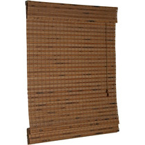 Persiana Roman Shade Hawaii Cortina Bambu 80 X 160 Cm Imbuia
