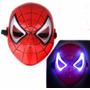 Máscara Homem Aranha C/ Luz De Led Resistente