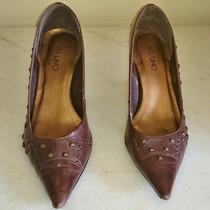 Sapato Salto Anabela Couro Legítimo Via Uno Tamanho 36