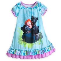 Camisola Infantil Princesa Merida Valente Disney 5/6 Anos