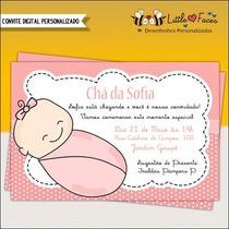 Convite Chá De Bebê Recém Nascido Digital