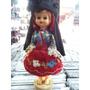 Boneca Antiga Portugal Traje Típico - Fecha Os Olhos