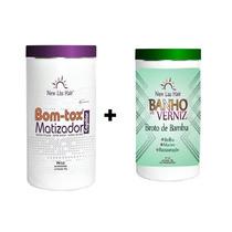 Banho De Verniz Broto De Bambu 1kg+ Bottox Matizador New Lis