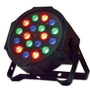 Refletor Led Par 64 Rgb 18 Led 1w Display Digital Strobo Dmx