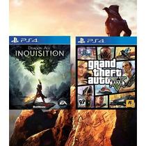 Grand Theft Auto V + Dragon Age Inquisition Ps4 Código Psn