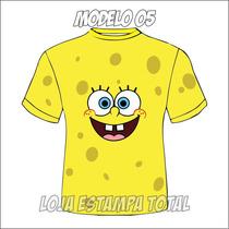 Camiseta Infantíl Bob Esponja - Camisa Infantíl