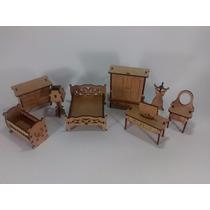 Kit Móveis Miniatura Casa De Boneca Grande Mdf 30pçs