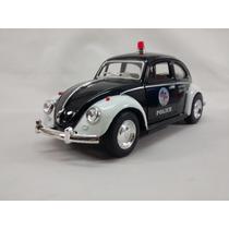 Miniatura Fusca 1967 Policia Escala 1:32
