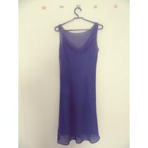 Vestido Azul Gola Boba Tecido Leve Cód. 24 A 27