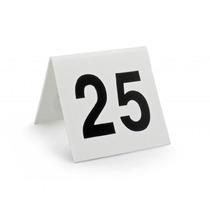 Placa Número Mesa Bar Restaurante Casamento Debutante 25pç