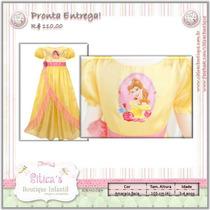Siticas Vestido Bela / Fera Infantil - Disney